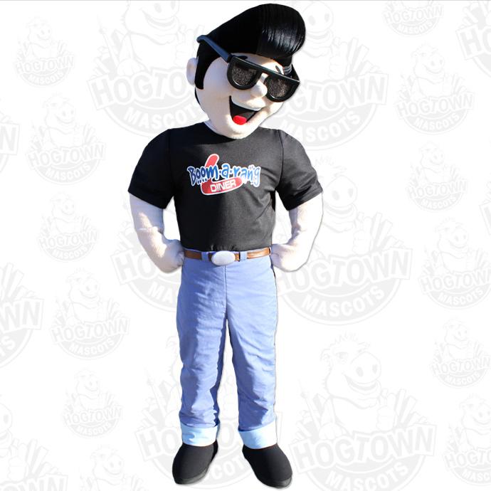 Boom-a-rang Diner Elvin mascot