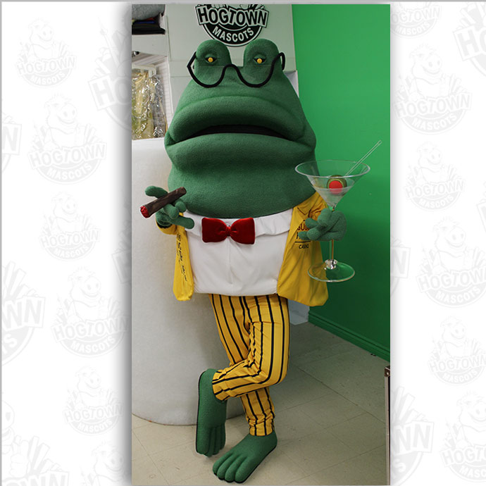 Hugo frog mascot costume